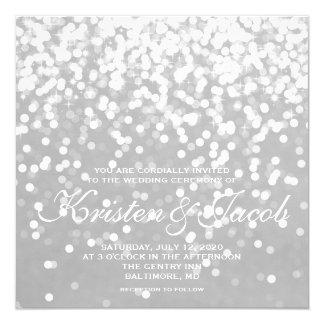 Cartão Convide - a prata cinzenta Wedding Sparkling