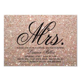 Cartão Convide - a Sra. fabuloso Rega do ouro cor-de-rosa