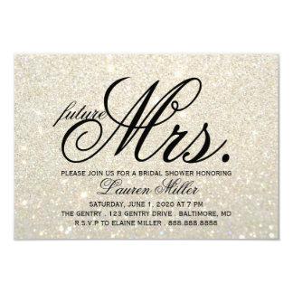 Cartão Convide - a Sra. futura fabuloso Nupcial de Glit