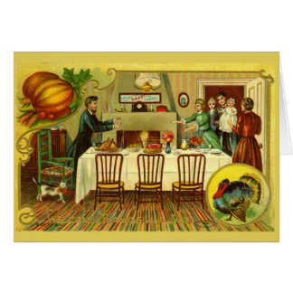 Cartão Convite/cartão do comensal da acção de graças do