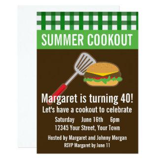 Cartão Cookout do verão