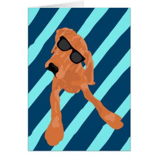 Cartão Coonhound legal de Redbone do vazio