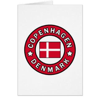 Cartão Copenhaga Dinamarca