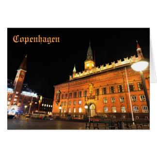 Cartão Copenhaga, Dinamarca na noite