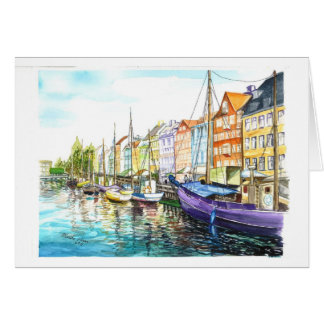 Cartão Copenhaga romântico