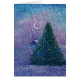 Cartão cópia das xmastree-estrelas
