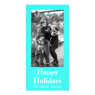 Cartão Cor azul de turquesa do Aqua entusiástico