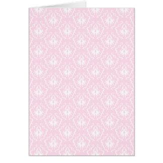 Cartão Cor damasco rosa pálido bonito com branco