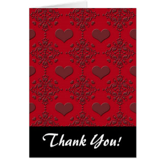 Cartão Cor damasco vermelho escuro dos corações