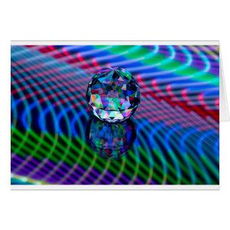 Cartão Cor das facetas no vidro