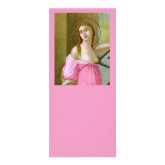 Cartão cor-de-rosa #1 da cremalheira do St. Agatha