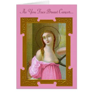 Cartão cor-de-rosa #2 do incentivo do St. Agatha
