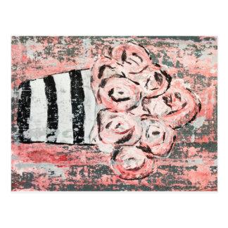 Cartão cor-de-rosa agradado
