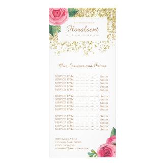 Cartão cor-de-rosa bonito da cremalheira da tabela 10.16 x 22.86cm panfleto
