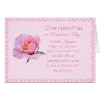 Cartão cor-de-rosa bonito da Excelente-Sobrinha do