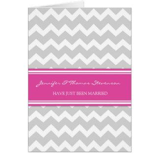 Cartão cor-de-rosa cinzento do anúncio do recem