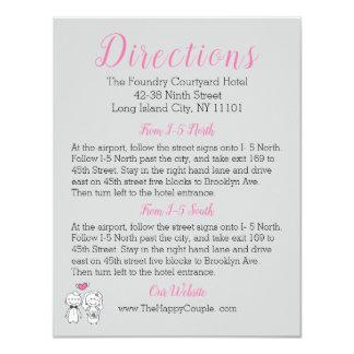 Cartão cor-de-rosa & cinzento dos sentidos da