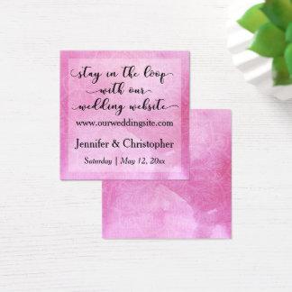 Cartão cor-de-rosa corajoso do Web site do