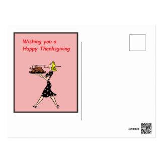 Cartão cor-de-rosa da acção de graças