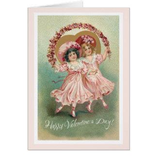 Cartão cor-de-rosa da amizade do dia dos namorados