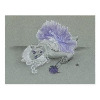 Cartão cor-de-rosa da bailarina gótico de Lavendar