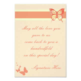 Cartão cor-de-rosa da borboleta