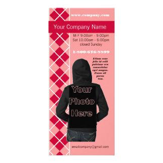 Cartão cor-de-rosa da cremalheira da diva da forma panfleto informativo personalizado