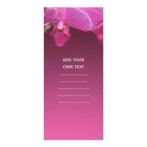 cartão cor-de-rosa da cremalheira da propaganda da panfletos informativos