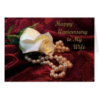 Cartão cor-de-rosa da esposa do aniversário