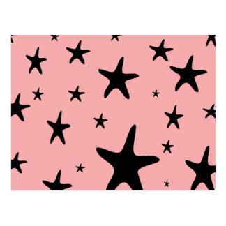 Cartão cor-de-rosa da estrela do mar