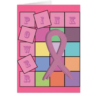 Cartão cor-de-rosa da fita da consciência do