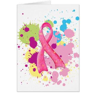 Cartão cor-de-rosa da fita de Splat