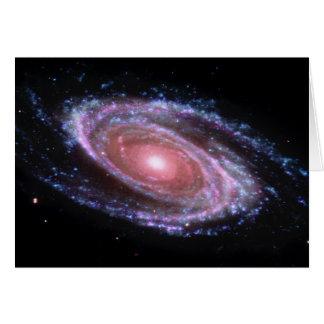 Cartão cor-de-rosa da galáxia espiral