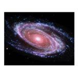 Cartão cor-de-rosa da galáxia espiral cartões postais