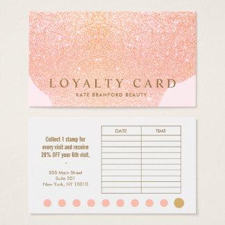 Cartão cor-de-rosa da lealdade do salão de beleza
