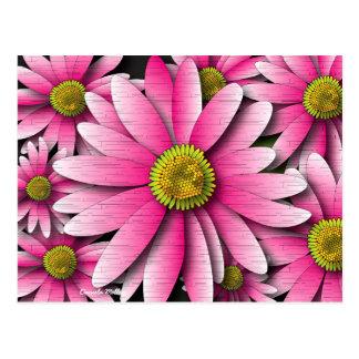 Cartão cor-de-rosa da margarida do Gerbera