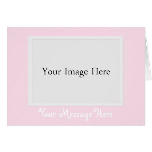 Cartão cor-de-rosa da moldura para retrato da foto