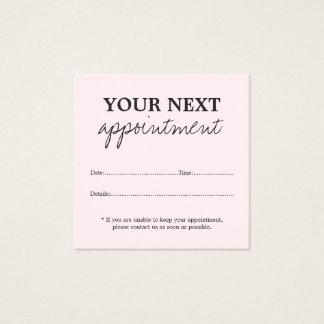 Cartão cor-de-rosa da nomeação da beleza da luz
