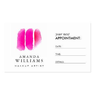 Cartão cor-de-rosa da nomeação das amostras de cartão de visita