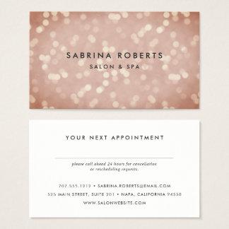 Cartão cor-de-rosa da nomeação de Bokeh do ouro do
