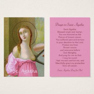 Cartão cor-de-rosa da oração do St. Agatha (M 003)