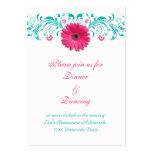 Cartão cor-de-rosa da recepção da margarida do Ger Cartoes De Visitas
