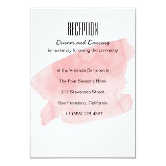 Cartão cor-de-rosa da recepção de casamento da