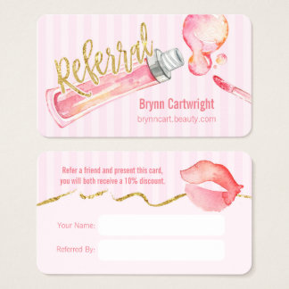 Cartão cor-de-rosa da referência da composição de