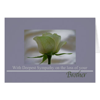 Cartão cor-de-rosa da simpatia da perda do irmão