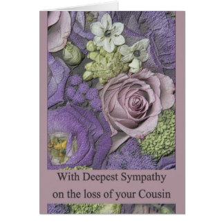 Cartão cor-de-rosa da simpatia da perda do primo