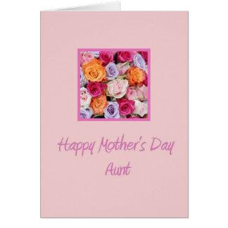 Cartão cor-de-rosa da tia dia das mães