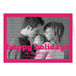 Cartão cor-de-rosa da tipografia boas festas