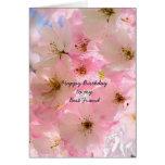 Cartão cor-de-rosa das bênçãos do aniversário das