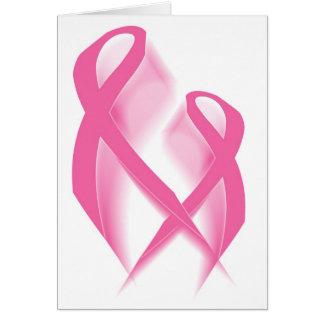 Cartão cor-de-rosa das fitas